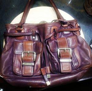 Michael Kors vintage purple leather bag